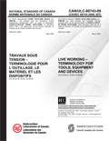 Live Working  Terminology for Tools, Equipment and Devices