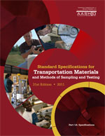 Standard Specifications for Transportation Materials & Methods of Sampling & Testing,31st ed