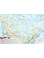 Canada Map Laminated Wall Map