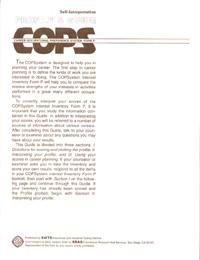 COPS-P: Professional Level Interest Inventory - Self-Interpretation Profile & Guide
